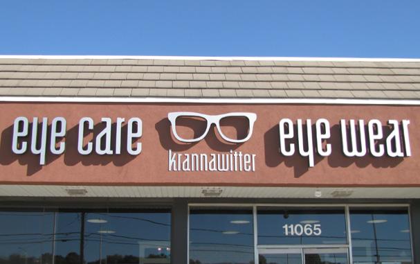 storefront of krannawitter eye care